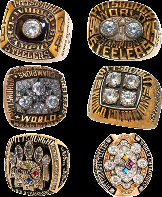 Steelers 6 Super Bowl Rings