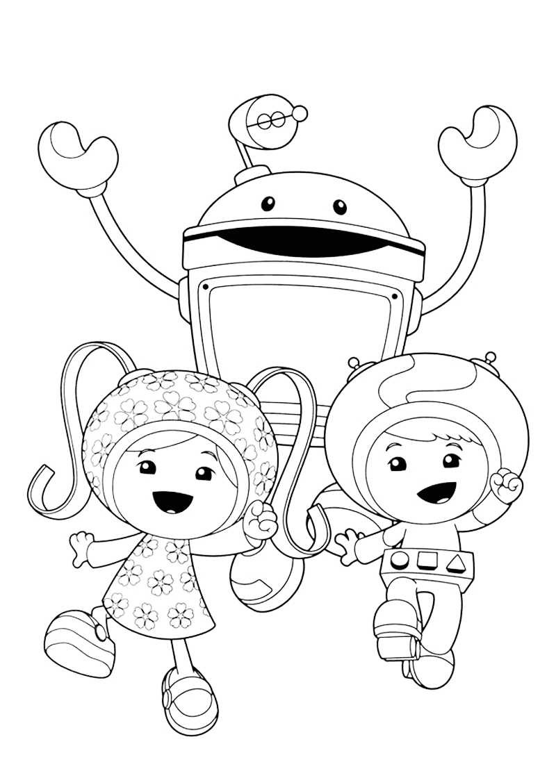 team umizoomi coloring pages print - photo#6