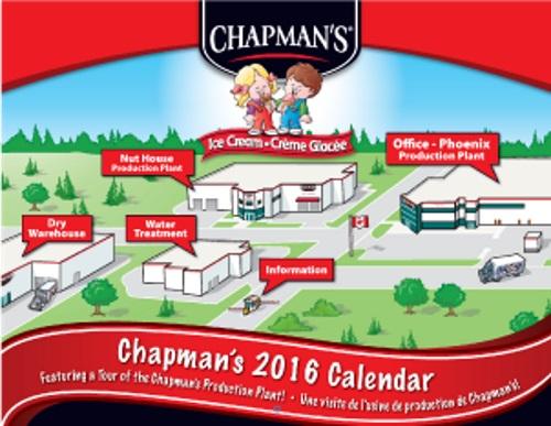 Chapman's Free 2016 Calendar
