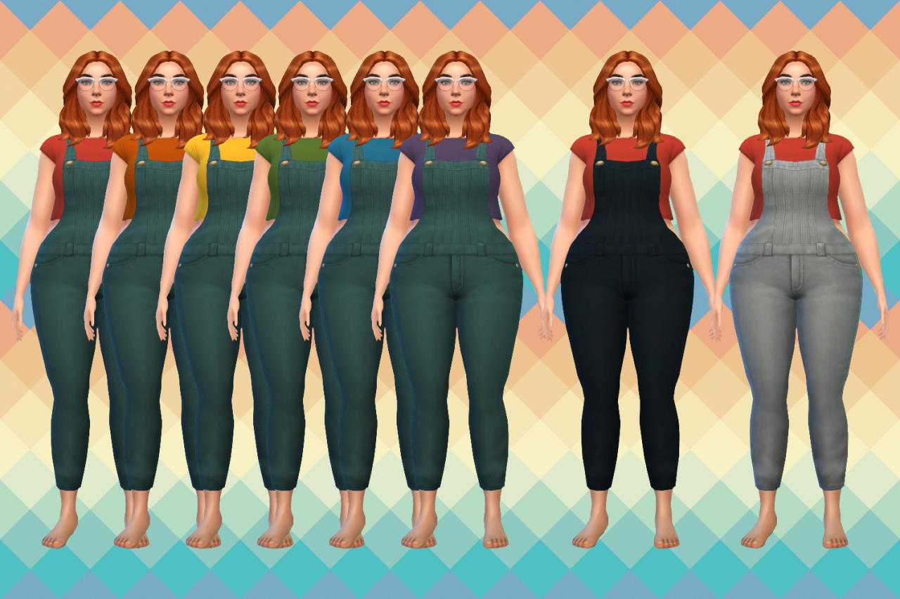 206 best images about sims 3 on pinterest dots sims 4 and warm - Overalls In 18 Swatches For Females By Ubersims