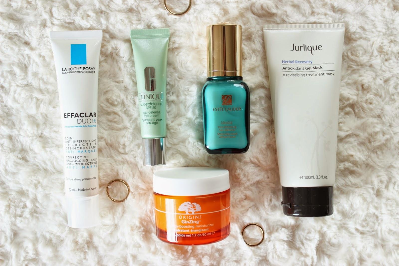 Beauty Post Holiday Sos Skincare Skin Refinisher La Roche Posay Effaclar Duo Anti Blemish Cream Clinique Superdefense Spf 20 Age Defense Eye Estee Lauder Idealist Pore Minimizing