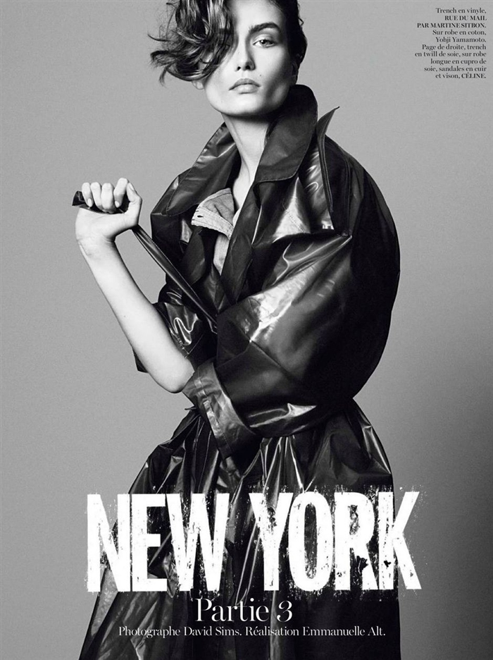 Andreea Diaconu in New York by David Sims for Vogue Paris
