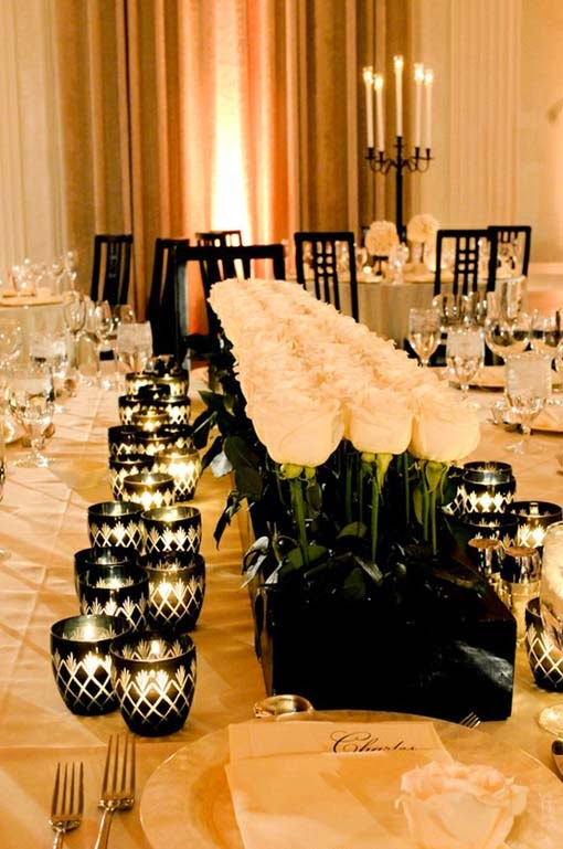 Table Decorations Black And White Theme Black And White Wedding Centerpieces Wedding Stuff Ideas