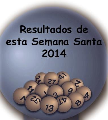 Resultados de loterías en la Semana Santa 2014