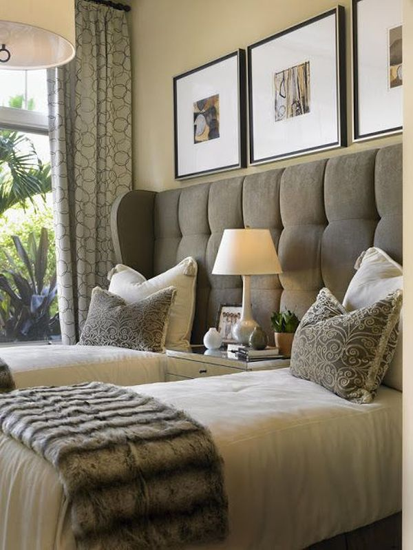 Eye for design decorating with grown up twin beds for Grown up bedroom designs