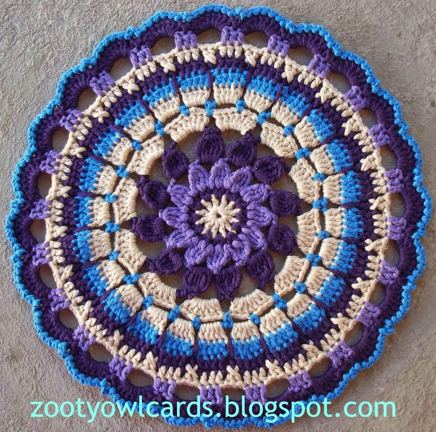 Crochet Free Pattern Mandala : Zooty Owls Crafty Blog: Dahlia Mandala: Pattern