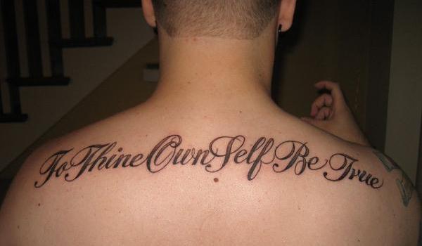 Writing back tattoos