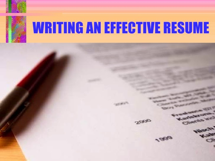 how to write effective resume famous articles