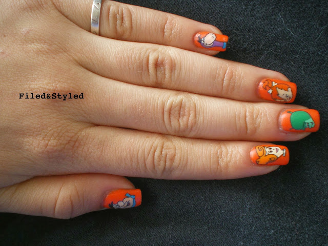 Flintstones Nails