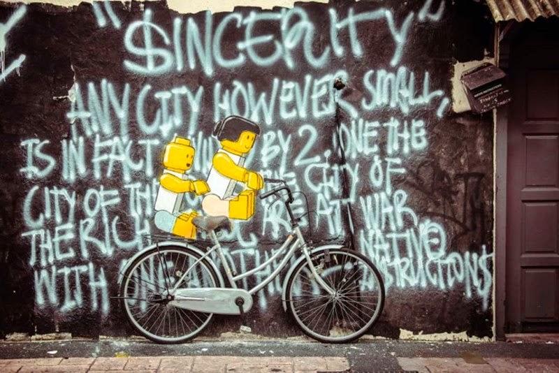 Lithuanian street artist Ernest Zacharevic