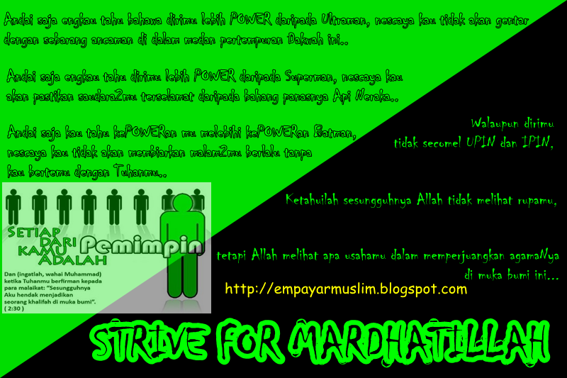 STRIVE FOR MARDHATILLAH