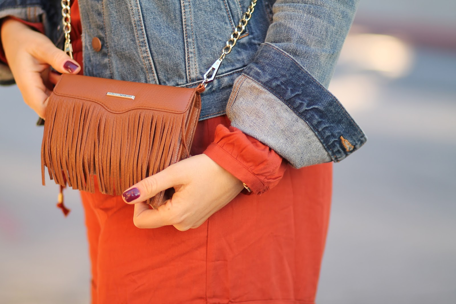 rebecca, Minkoff, crossbody, phone, case, fringe