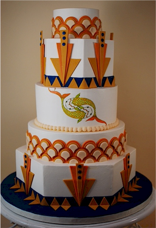 Cup a Dee Cakes Blog: Art Deco Wedding Cake