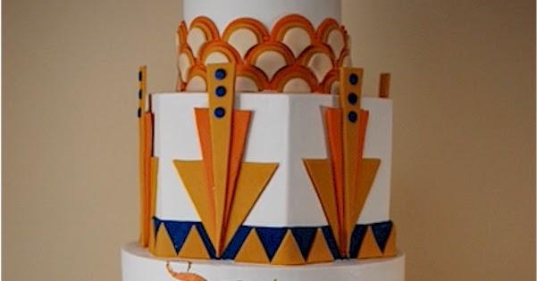 Cake Art Decor Nr 10 : Cup a Dee Cakes Blog: Art Deco Wedding Cake