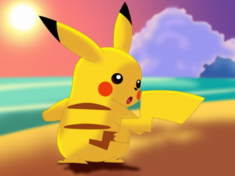 Pikachu Cartoon Wallpaper - Pokemon
