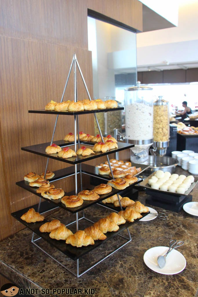 Breakfast pastries in F All Day Dining Restaurant
