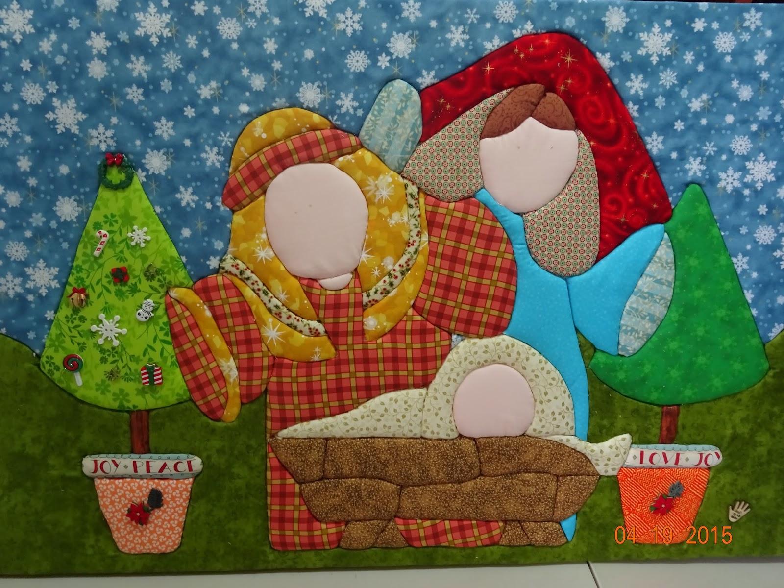 Labores de liliana patchwork sin aguja nacimiento de navidad - Patchwork en casa patrones ...