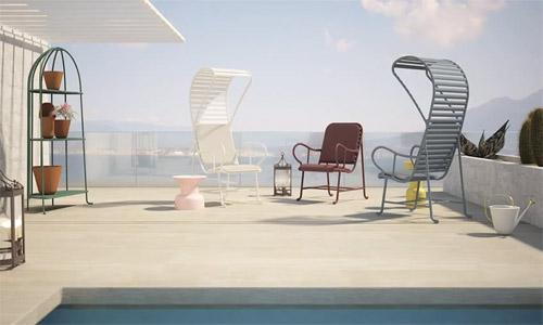 Colección Gardenias, diseño de muebles para exterior, I Saloni 2013