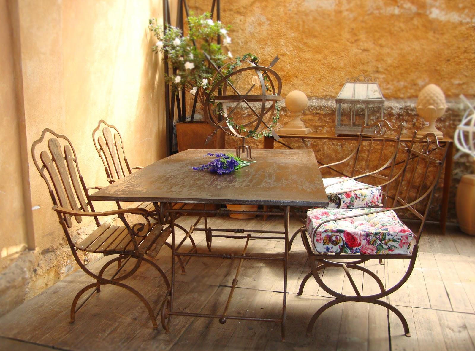 Móveis e Decoração Provençal  Serralheria de Charme: Mesa de Ferro #B1851A 1600x1184