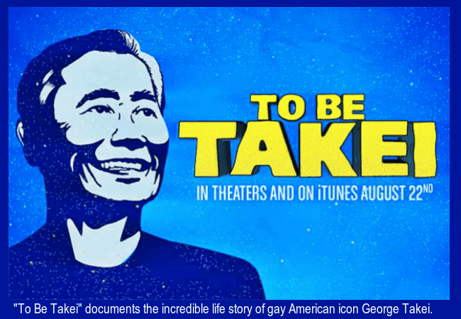 "George Takei is the subject of the film ""To Be Takei"""