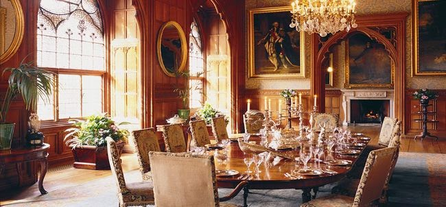 Dining room of Mount Stuart House, Isle of Bute