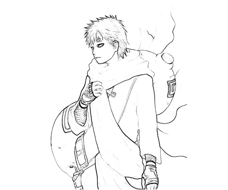 gaara coloring pages - photo#22