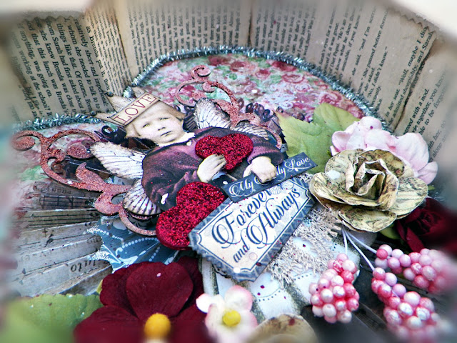 altered heart box by Lisa Novogrodski for Scraps of Darkness using the January Beloved kit