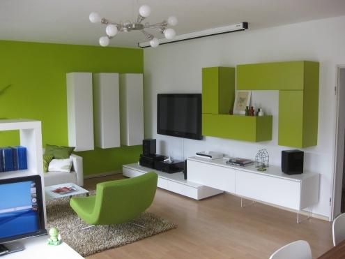 Fotos de salas color verde colores en casa - Casas color verde ...