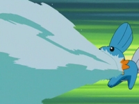 Episódios - Pokémon Velha Unova - Rafael EP277_Mudkip_usando_Pistola_agua