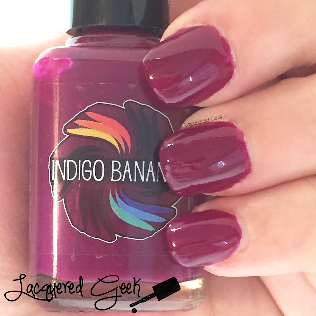 Indigo Bananas Dark Side of Maroon nail polish swatch and review