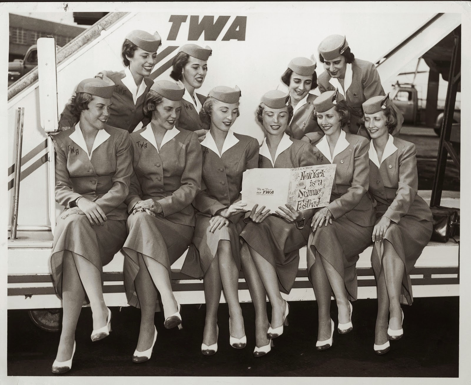 Vintage Stewardess Uniforms 84