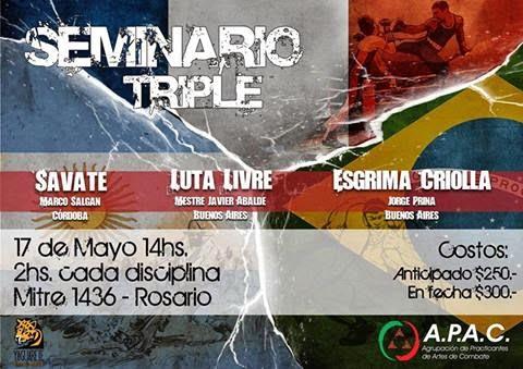 Seminario de Esgrima Criolla - Savate -Luta livre