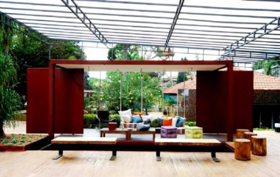 Fresh And Cool Design Outdoor Living Room Contemporary | Modern ...