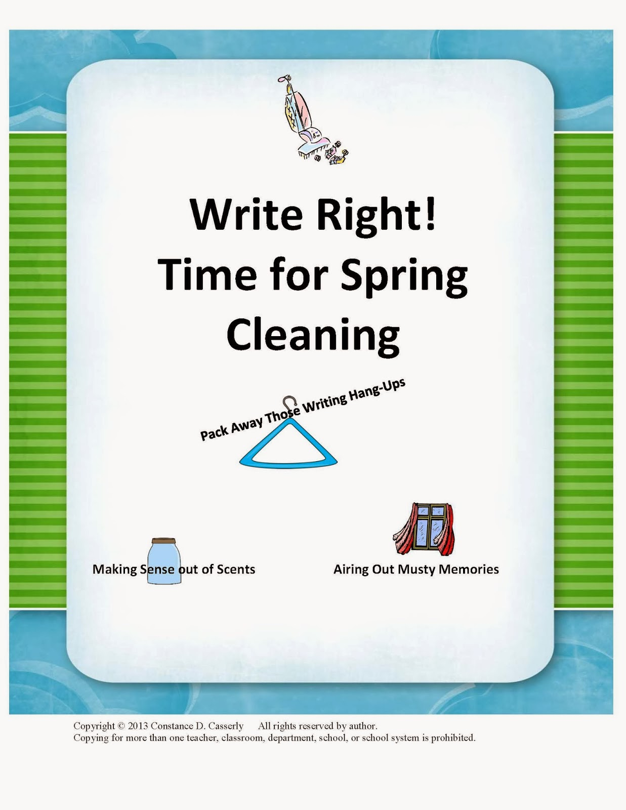 Activity: Write Right! Time for Spring Cleaning cover