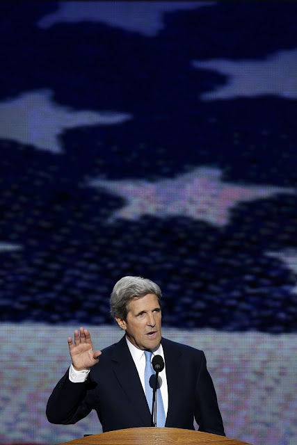 Sen. John Kerry of Massachusetts addresses the Democratic National Convention