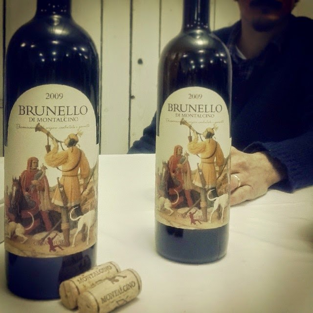 The label of the Casa Raia Brunello 2009