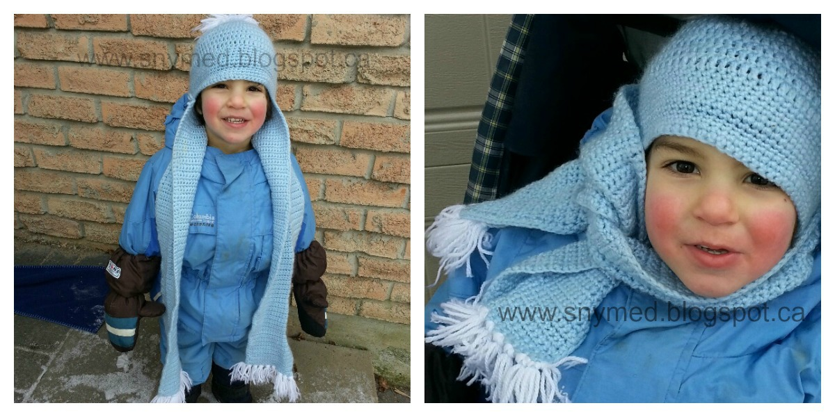 Knitting Pattern For Hat With Scarf Attached : How to Knit a Hat Scarf (Hat with Attached Scarf)! ~ snymed