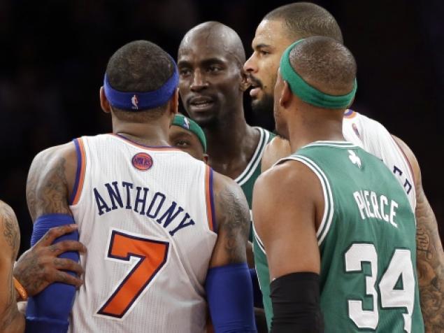Carmelo anthony ready to fight kevin garnett over his wife for Jordan garnett tattoo