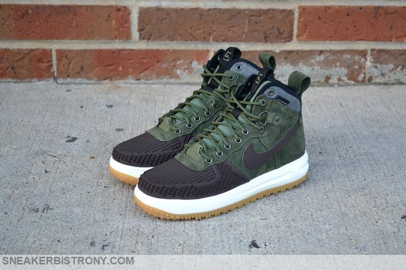 nike lunar force 1 duckboot - baroque brown/army