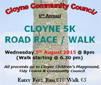 Big 5k race in E Cork...Wed 5th Aug