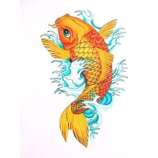 fish koi tattoo perseverance