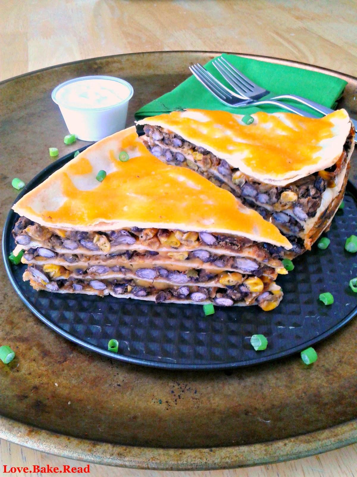 Black Bean Mexican Lasagna     Love.Bake.Read