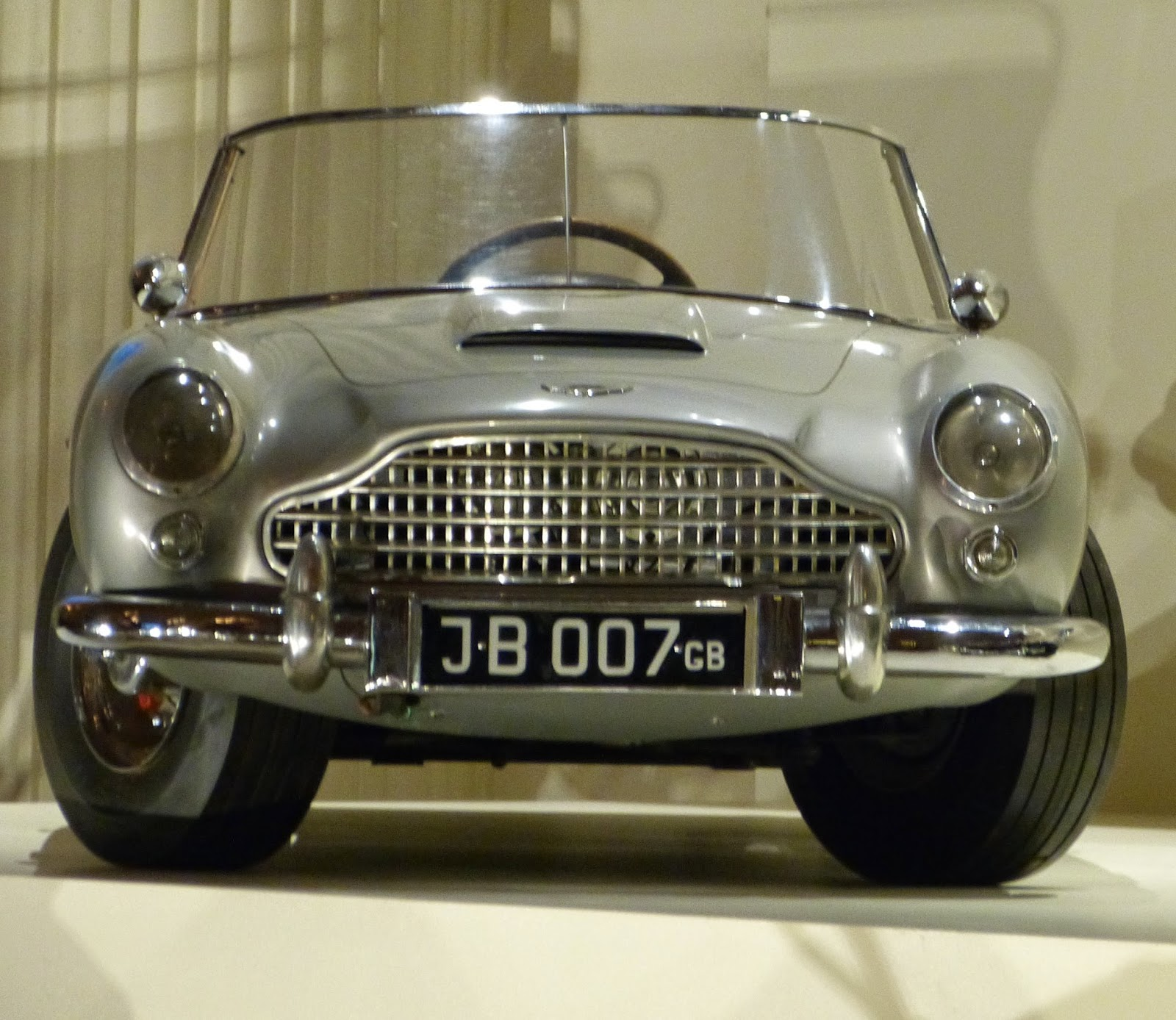 Miniature replica of James Bond's car (1966)