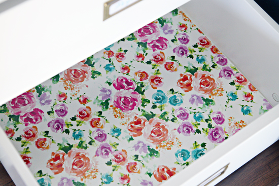 Iheart organizing quick tip tuesday gift wrap drawer liners clear contact paper on each edge of the gift wrap to offer a small bit of grip to the bottomedges of the drawers and to prevent any paper wiggling mightylinksfo