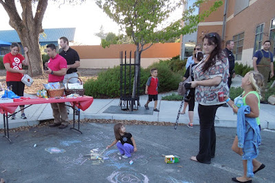 Making Street Art with Chalk, August 4, National  Night Out, © B. Radisavljevic