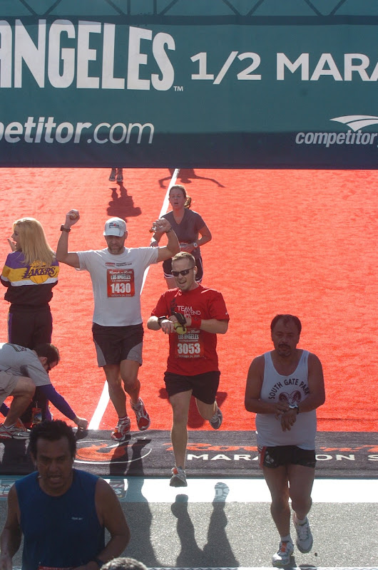 Rock'n'Roll Half Marathon finish