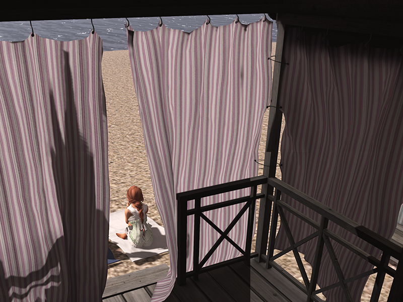 Second Life beach cottage from the inside out