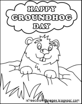 Groundhog day coloring pages free coloring pages for Groundhog day coloring page