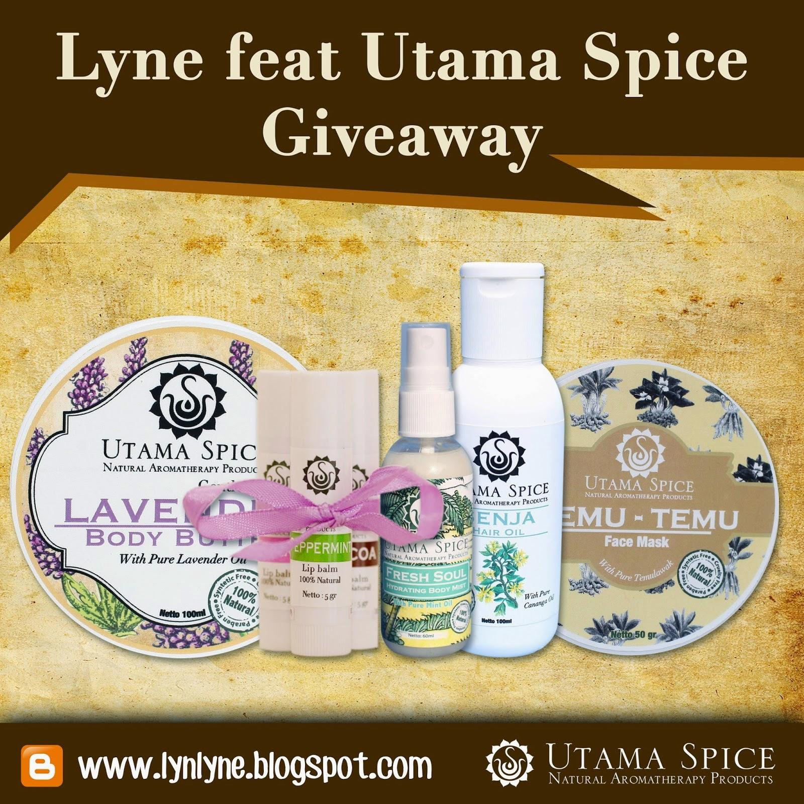 Lyne Giveaway ft Utama Spice