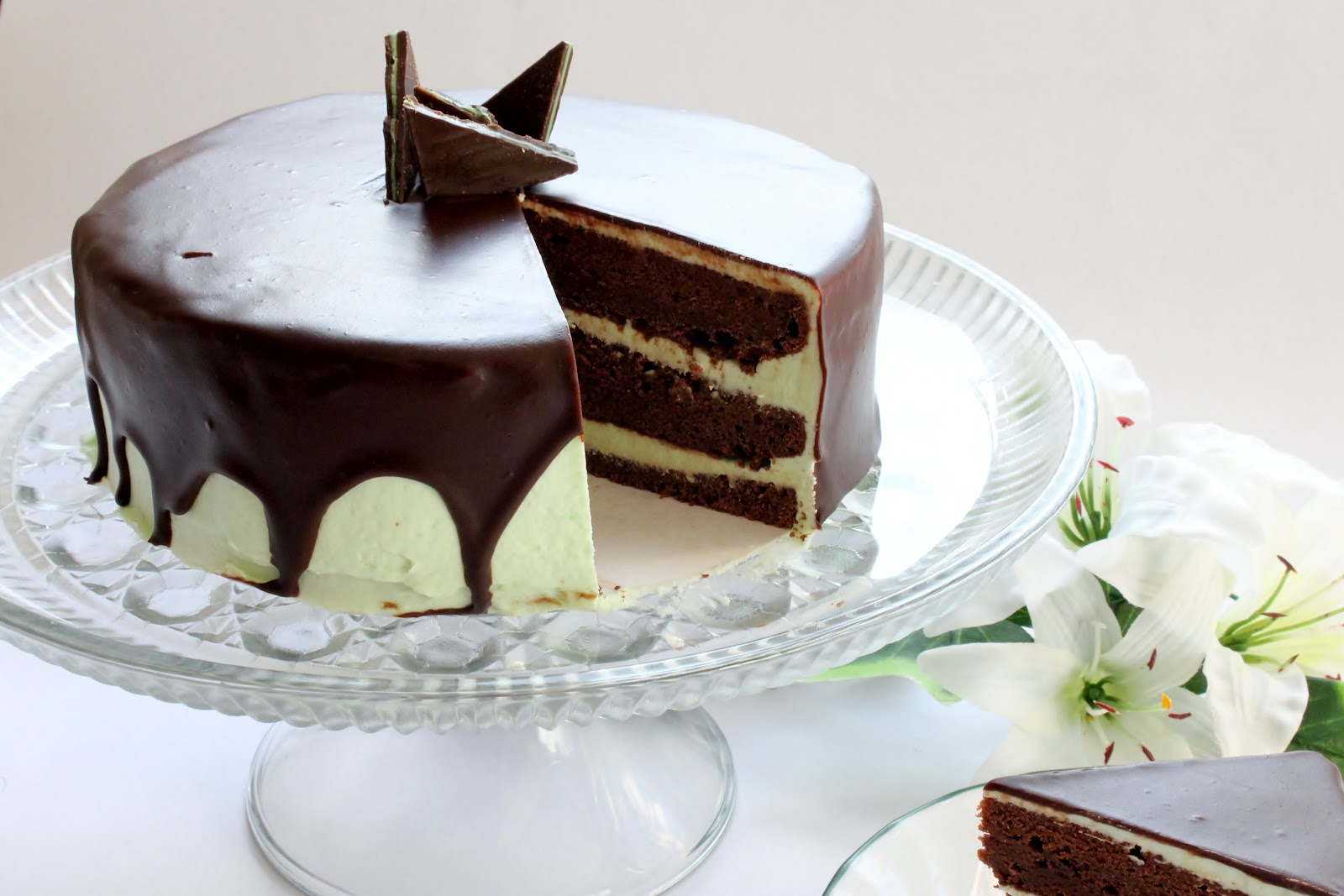 For the chocolate cake recipe, click here . Scroll down to the bottom ...